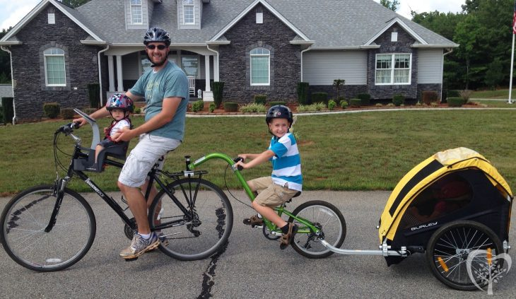 On a Bike Ride With Four Kids